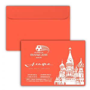 Конверты для ресторанов и отелей с логотипом